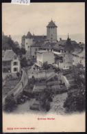 Murten - Morat ; Schloss Murten ; Ruelle Et Jardins - Gasse Und Garten - Ca 1906 (-847) - FR Fribourg
