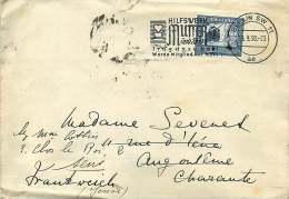 1938  Brief  Anch Frankreich  F. Von Zeppelin 25 Pf MiNr 669 Eiselfrankatur - Briefe U. Dokumente