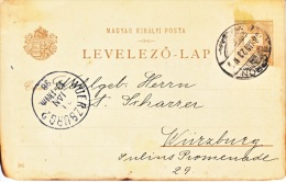 Hungary  Postal History Card To Germany  1898   (o) - Covers & Documents