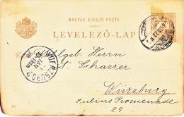 Hungary  Postal History Card To Germany  1898   (o) - Hungary