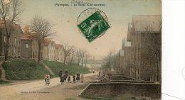 Pierrepont; Enfants Dans La Rue Au Fayel En 1908 (carte Avec Déchirure Coin Sup Gauche)------Réf 6172 - France