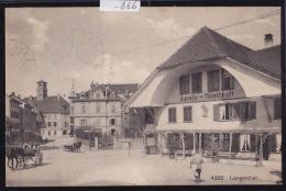 Langenthal - Speise - Wirtschaft ; Mit Kutsche ; Avec Calèche Ca 1908 (-866) - BE Berne
