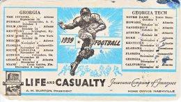 U.S. GEORGIA,  GEORGIA  TECH  FOOTBALL 1939 - Covers & Documents