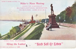 """JUNEAU  PARK, MILWAUKEE 1906  """" HOCH  SOLL ER  LEBER"""" - Milwaukee"""