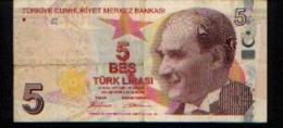 TURQUIE - 5 Livres - 14 Ocak 1970 - Turquie