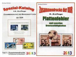 DDR Teil 1+4 RICHTER Katalog ZD+ Plattenfehler 2013 Neu 50€ Abart/se-tenant And Blocs Error Special Catalogue Of Germany - Rarezas
