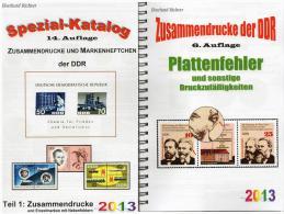 DDR Teil 1+4 RICHTER Katalog ZD+ Plattenfehler 2013 Neu 50€ Abart/se-tenant And Blocs Error Special Catalogue Of Germany - Autres Collections