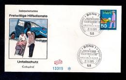 ALLEMAGNE BRD 1970  FDC  21/09/70 SERVICES DE SECOURS VOLONTAIRES Mi633 - BRD