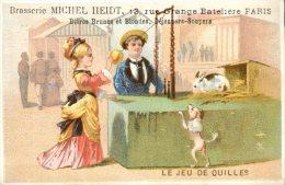Paris, Rue Grange Batelière, Brasserie Michel Heidt,  Thème Enfants, Le Jeu De Quilles, Lith. Laas - Sonstige