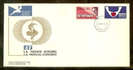 REPUBLIC OF SOUTH AFRICA, 1969, First Day Cover Nr. 11, Medical Congress, F2655 - South Africa (1961-...)