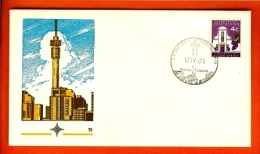 REPUBLIC OF SOUTH AFRICA, 1971, J.G. Strydom Tower (17-4-1971), First Day Cover Nr. 15,   F2619 - South Africa (1961-...)