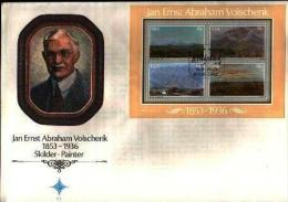 REPUBLIC OF SOUTH AFRICA, 1978, Paintings Volschenk, First Day Cover Nr.3.10ms Block 4 - South Africa (1961-...)