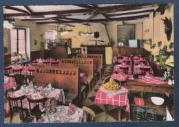 60 OISE - CP COLORISEE FLEURINES - AUBERGE DE LA BICHE AU BOIS - SALLE DE RESTAURANT - COMBIER CIM N° 2 - Autres Communes