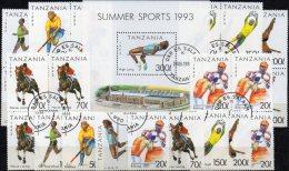 Olympia Atlanta 1996 Tanzania 1467-2,VB+Block 212 O 30€ Marathon M/s Box Olympic Sport Bloc Athletic Sheet Bf Tanzanie - Summer 1996: Atlanta