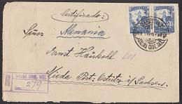 Mexico Mexiko Cerdificado Salina Cruz 20c (2) Auf Einschreiben-Brief 1925 Nach Nieda Post Ostritz - Mexiko