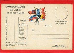 CARTE EN FRANCHISE MILITAIRE VIERGE EN SUPERBE ETAT GUERRE 1914 1918 - Postmark Collection (Covers)