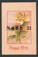 - Carte Bonne Fête - 2 Volets - '' Une Rose Pour Le Dire   '' - - Saisons & Fêtes