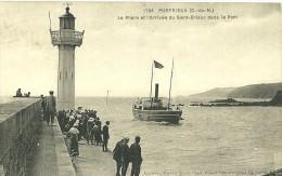 22 - PORTRIEUX / LE PHARE ET L'ARRIVEE DU SAINT BRIEUC DANS LE PORT - Saint-Quay-Portrieux