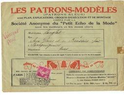 """LES PATRONS MODELES  """" PETIT ECHO DE LA MODE """"  1937 - Patrons"""