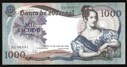 PORTOGALLO (PORTUGAL) : 1000 Escudos -1967  - P172 - XF+ - SN:HZ06801 - Portogallo