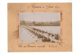 PONT Par Bateaux Successifs Sur Le Rhône  AVIGNON Vaucluse  7° REGIMENT Du Génie La Parade TIRAGE ORIGINAL Bon Etat - Places