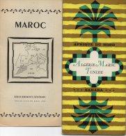 2 DEPLIANTS  TOURISTIQUES  -  AFRIQUE  DU  NORD -  ALGERIE  MAROC  TUNISIE - 1952 - Publicités