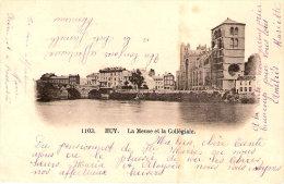 Huy-1905-La Meuse Et La Collégiale-(exp. Vers Namur)-Précurseur-Belle Oblitération De Huy(Nord)-cachet D´arrivée Namur - Huy