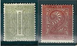 1863  DE LA RUE CIFRA 1 + 2  Cent  NUOVO - 1861-78 Victor Emmanuel II