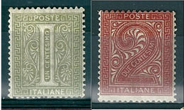 1863  DE LA RUE CIFRA 1 + 2  Cent  NUOVO - Nuovi