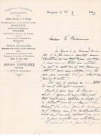 Bazar, ADRIEN ESPEISSE  Coiffeur à SAUGUES 43 , Librairie , Papeterir , Imprimerie , Jouets , Parfumerie - Documentos Antiguos