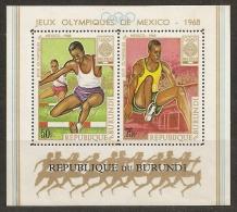 JUEGOS OLIMPICOS - BURUNDI 1968 - Yvert #H26 - MNH ** - Verano 1968: México