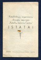 1938 Lithuania Lietuva/ Catholic Organizations Statutes - Books, Magazines, Comics