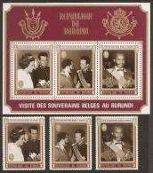 FAMILIAS REALES - BURUNDI 1970 - Yvert #A182/84+H42 - MNH ** - Familias Reales