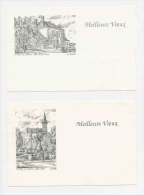 La Chapelle Saint-Ursin - Meilleurs Voeux -  Lot De 2 Cartes De Voeux  ( Ducourtioux )  // St CP 8/633 - Nouvel An