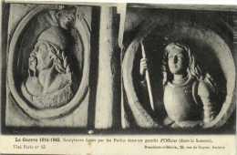 La Guerre 1914 1915 Sculptures Faites Par Les Poilus Dans Un Gourbi D'officier Dans La Somme Vercingetorix Jeanne D'Arc - Guerra 1914-18