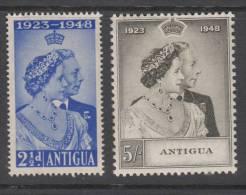 ANTIGUA 1948 KGVI  SILVER WEDDING  SET  MH - 1858-1960 Colonia Británica
