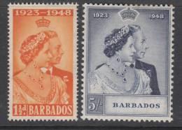 BARBADOS 1948 KGVI  SILVER WEDDING  SET  MH - Barbados (...-1966)