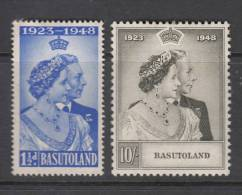 BASUTOLAND 1948 KGVI  SILVER WEDDING  SET  MH - Basutoland (1933-1966)