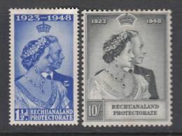 BECHUANALAND 1948 KGVI  SILVER WEDDING  SET  MH - 1885-1964 Protectorado De Bechuanaland
