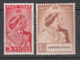 Br.GUYANA 1948 KGVI  SILVER WEDDING  SET  MH - Guayana Británica (...-1966)