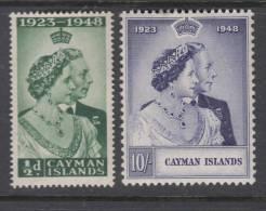 CAYMAN ISL. 1948 KGVI  SILVER WEDDING  SET  MH - Caimán (Islas)