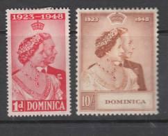 DOMINICA. 1948 KGVI  SILVER WEDDING  SET  MH - Dominica (...-1978)