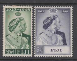 FIJI. 1948 KGVI  SILVER WEDDING  SET  MH - Fiji (...-1970)