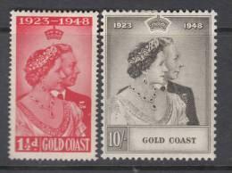 GOLD COAST 1948 KGVI  SILVER WEDDING  SET  MH - Costa De Oro (...-1957)