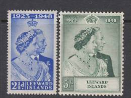 LEEWARD  ISL. 1948 KGVI  SILVER WEDDING  SET  MH - Leeward  Islands