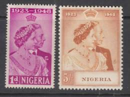 NIGERIA 1948 KGVI  SILVER WEDDING  SET  MH - Nigeria (...-1960)