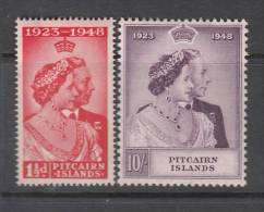 PITCAIRN 1948 KGVI  SILVER WEDDING  SET  MH - Islas De Pitcairn