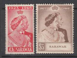 SARAWAK 1948 KGVI  SILVER WEDDING  SET  MH - Sarawak (...-1963)