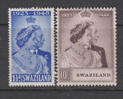 SWAZILAND 1948 KGVI  SILVER WEDDING  SET  MH - Swaziland (...-1967)