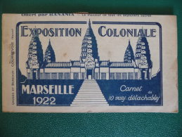 MARSEILLE   -  CARNET  DE  L EXPOSITION  COLONIALE  1922  - OFFERT PAR  BANANIA -    ILLUSTRE  PAR  POULBOT - Expositions Coloniales 1906 - 1922